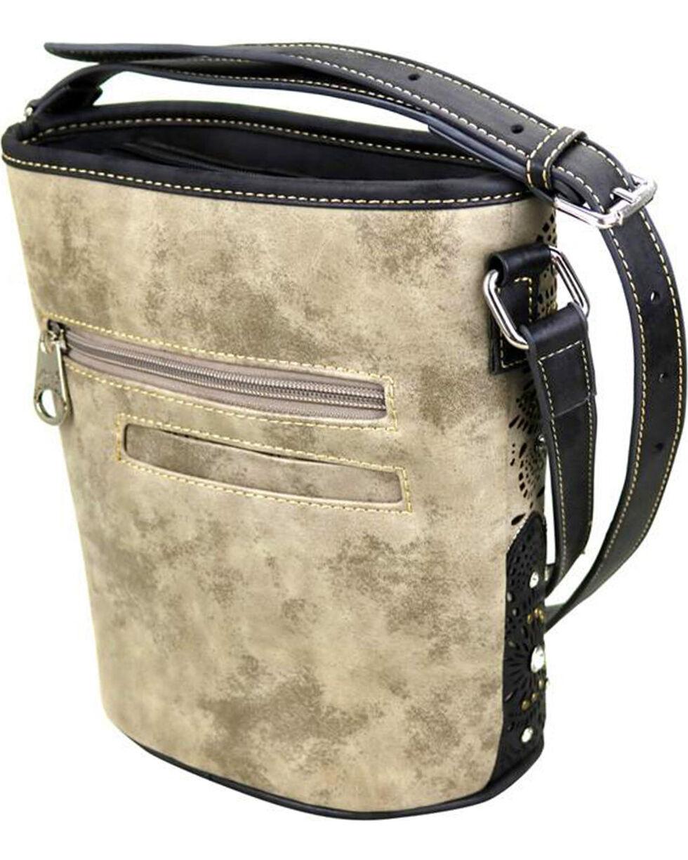 Montana West Women's Grey Bucket Shape Crossbody Bag , Grey, hi-res