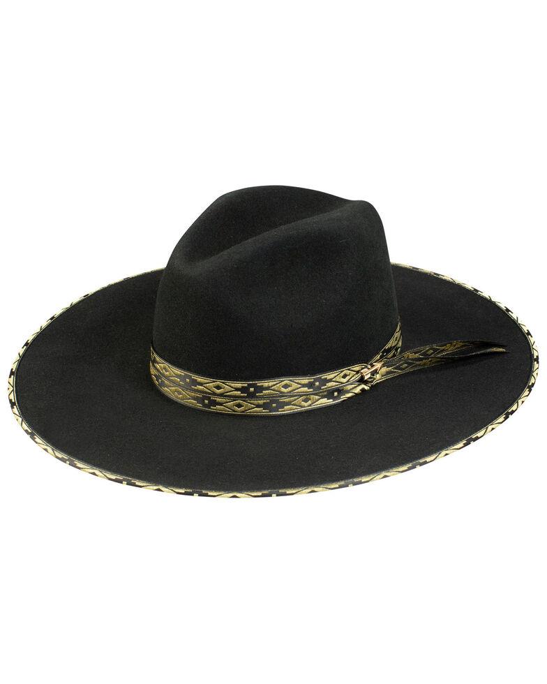 Stetson Women's Black Bowie Wool Felt Western Hat , Black, hi-res