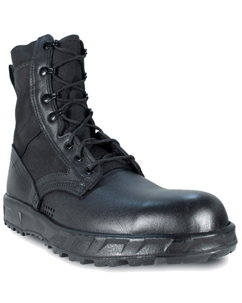 McRae Men's Black T2 Ultra Light Hot Weather Combat Boots - Soft Toe, Black, hi-res