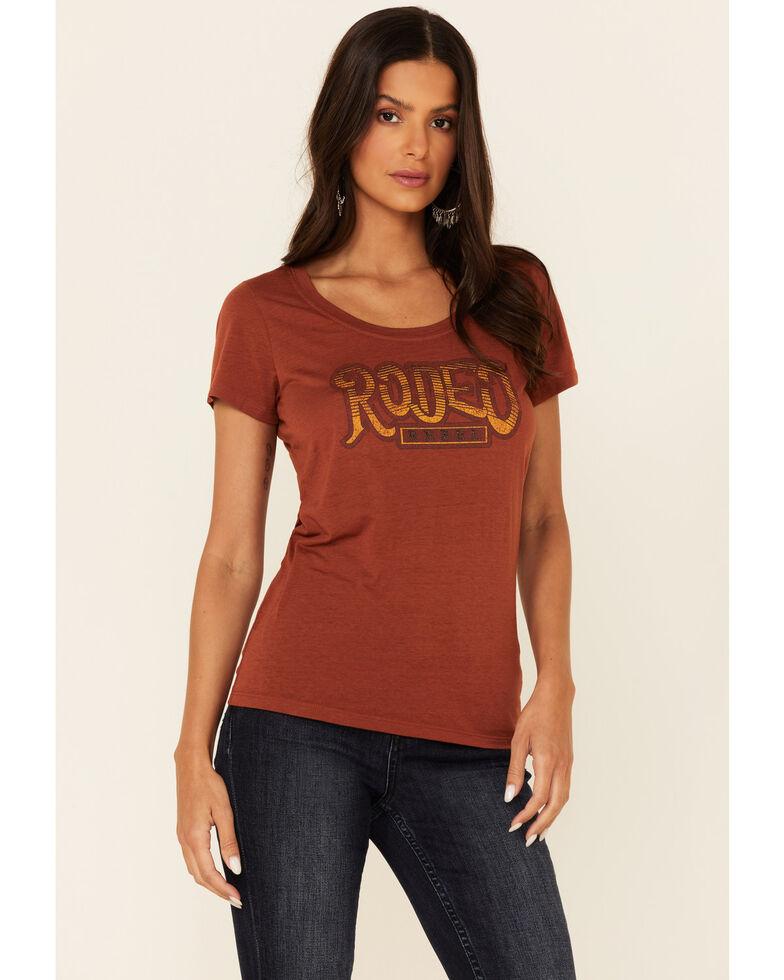 Idyllwind Women's Rodeo Rebel Graphic Short Sleeve Trustee Tee , Rust Copper, hi-res
