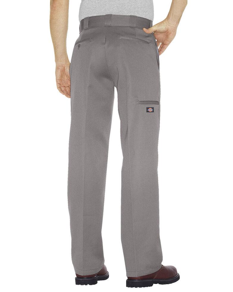 Dickies Men's Loose Fit Double Knee Work Pants, Silver, hi-res