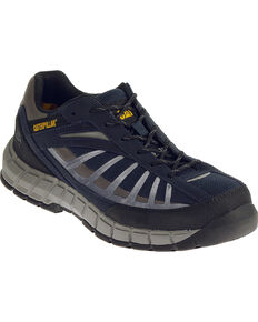 CAT Men's Infrastructure Steel Toe Work Shoes, Navy, hi-res