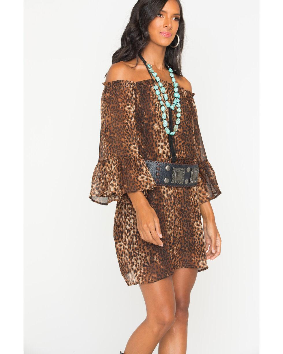 Cowgirl Justice Women's Cheetah Print Dress, Print, hi-res