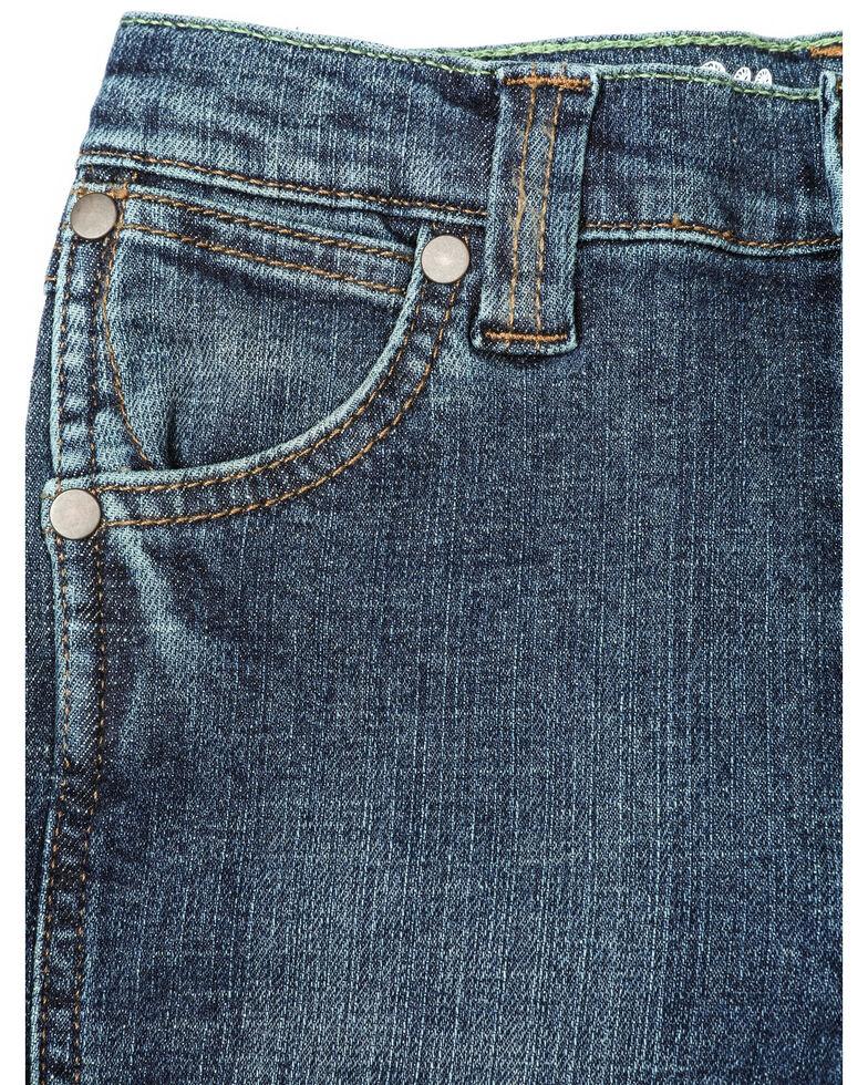 Wrangler Retro Boys' Denim Dark Slim Straight Jeans , Blue, hi-res