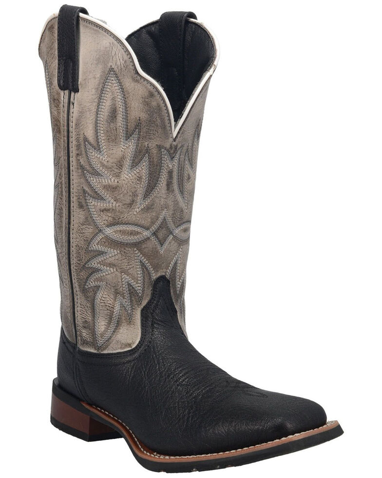 Laredo Men's Isaac Western Boots - Wide Square Toe, Black, hi-res