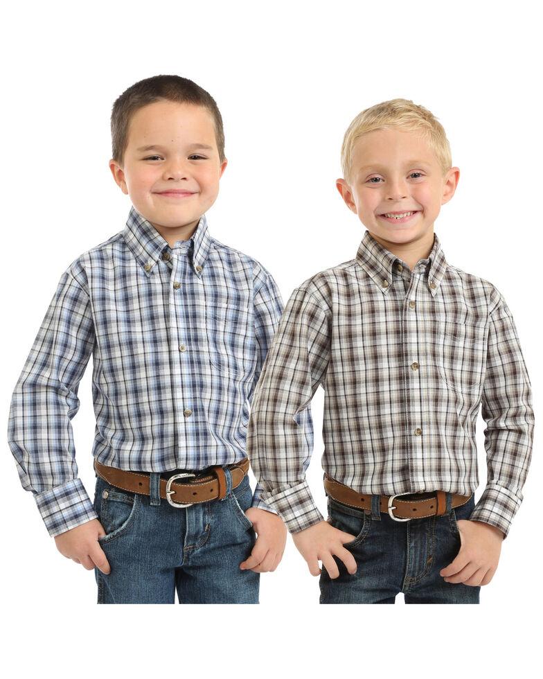 Wrangler Boys' Riata Assorted Plaid Long Sleeve Western Shirt , Multi, hi-res