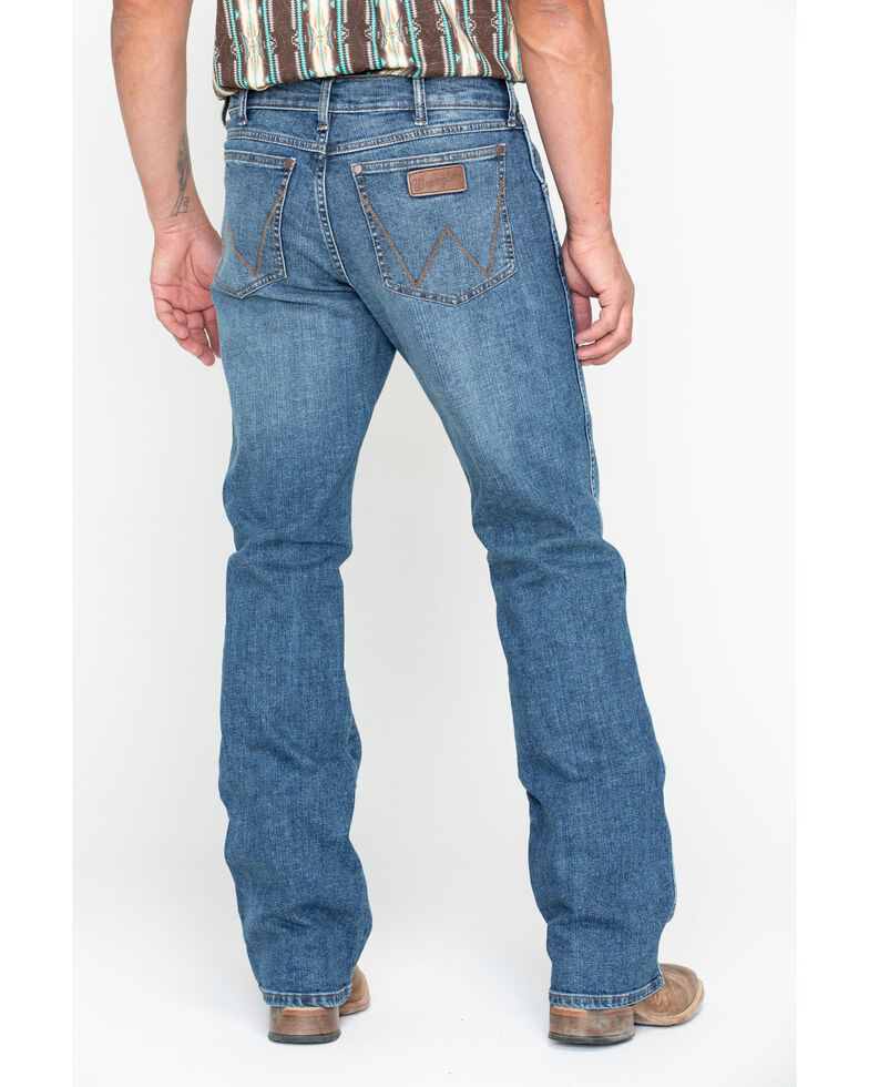Wrangler Retro Men's Panola Long Relaxed Bootcut Jeans , Blue, hi-res