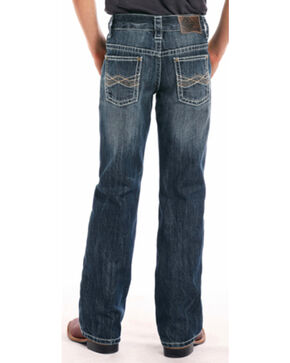 "Rock & Roll Cowboy Boys' BB Gun Abstract ""A"" Regular Fit Boot Cut Jeans, Blue, hi-res"