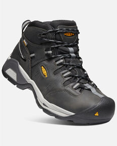 Keen Men's Detroit XT Waterproof Work Boots - Soft Toe, Black, hi-res