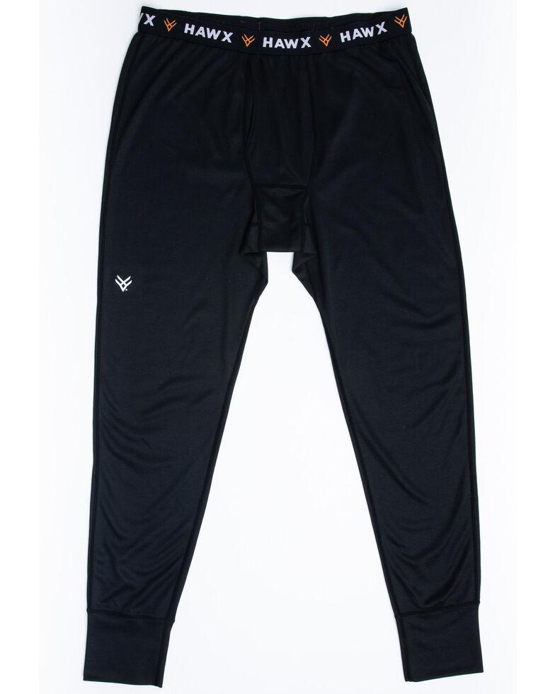 Hawx Men's Black Mid-Weight Base Layer Thermal Work Pants , Black, hi-res