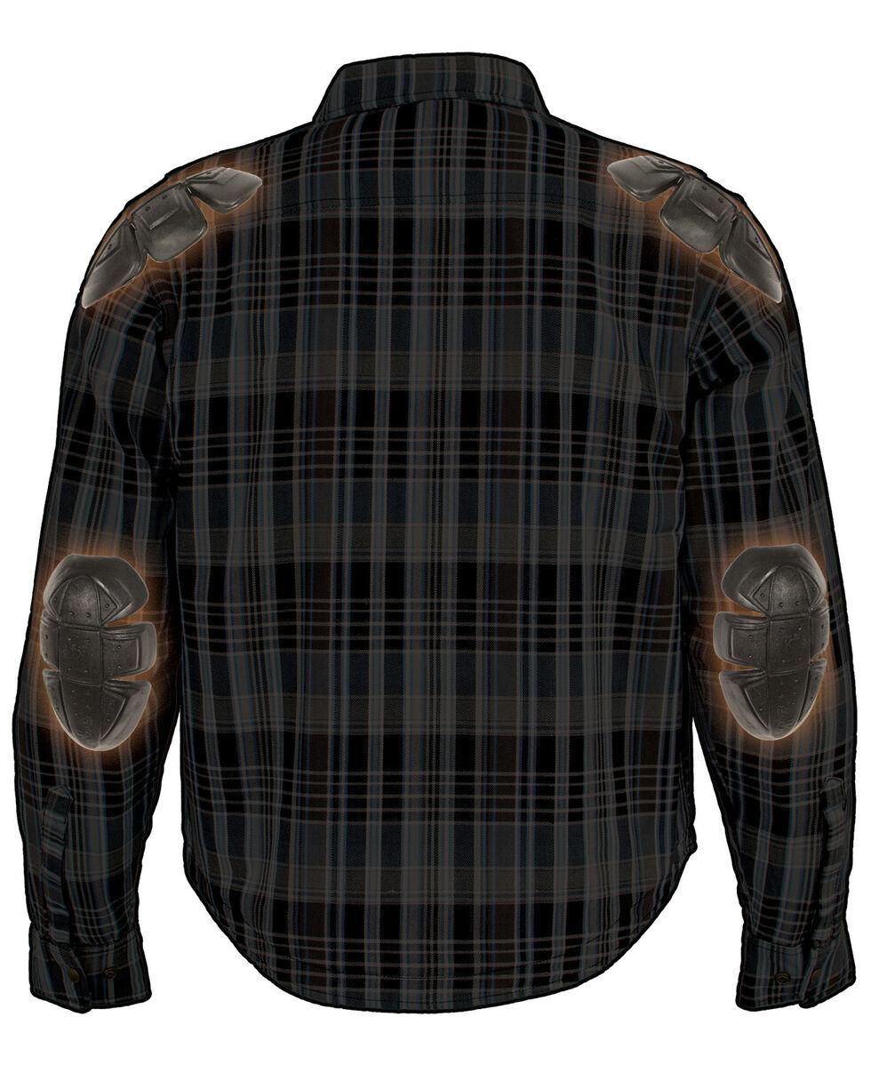 Milwaukee Performance Men's Aramid Reinforced Flannel Biker Shirt - Big & Tall, Black/blue, hi-res