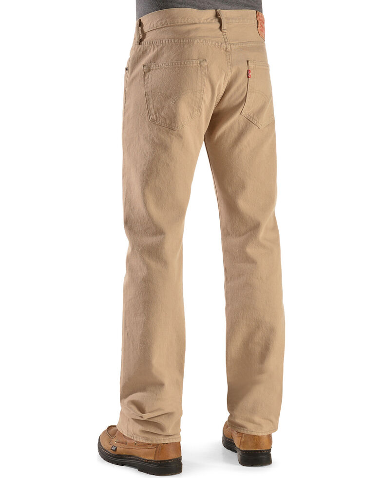 Levi's Men's 501 Timberwolf Original Fit Straight Leg Jeans  , Lt Tan, hi-res