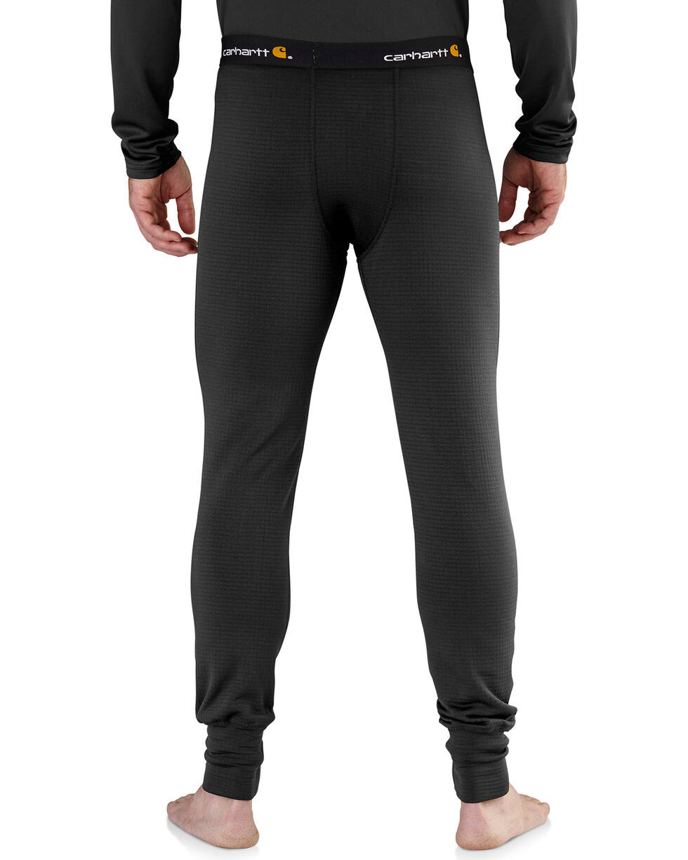 Carhartt Men's Black Base Force Extremes Super-Cold Weather Bottoms , Black, hi-res