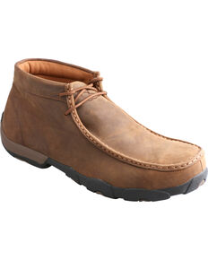 Twisted X Men's Waterproof Western Driving Mocs, Saddle Brown, hi-res