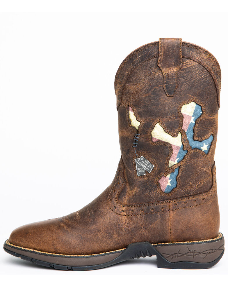 Cody James Men's Star Exports With Flag Western Boots - Wide Square Toe, Brown, hi-res