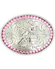 Nocona Belt Co Girl's Cowgirl Belt Buckle, Silver, hi-res