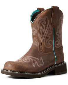 Ariat Women's Heritage Heavenly Fatbaby Western Boots - Round Toe, Brown, hi-res