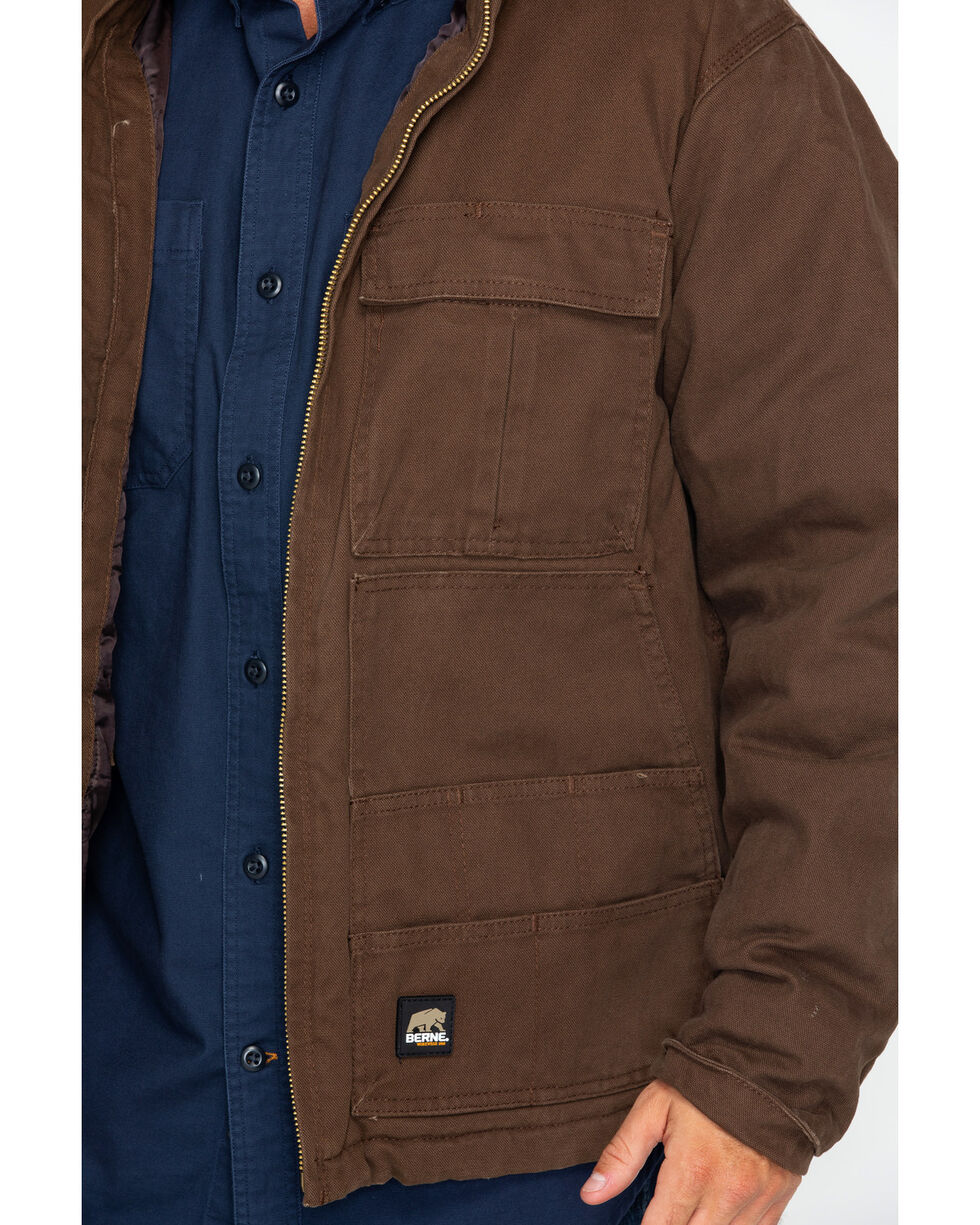 Berne Men's Flex180 Washed Chore Coat, Bark, hi-res