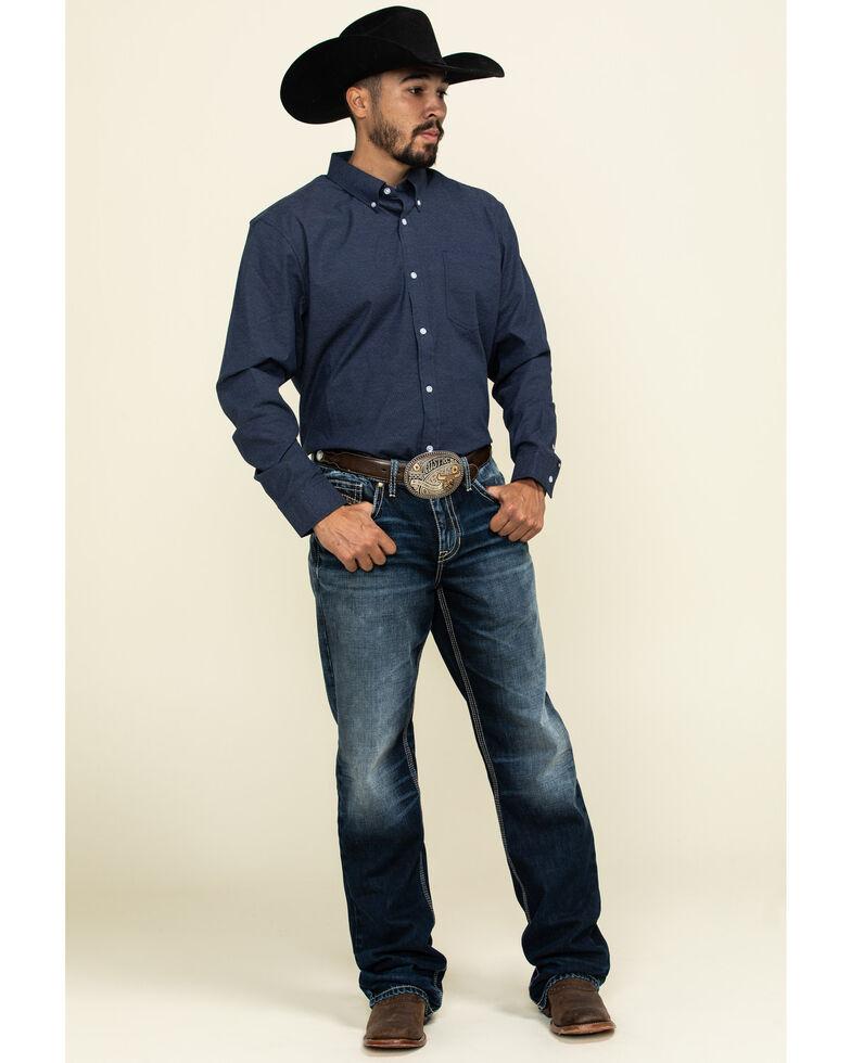 Cody James Core Men's Space Cowboy Geo Print Long Sleeve Western Shirt , Navy, hi-res