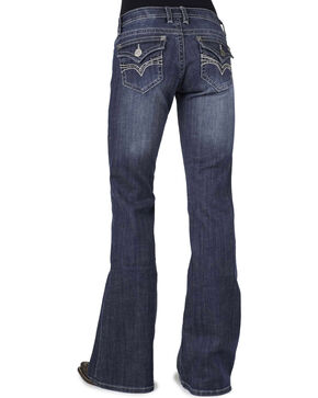 Stetson Women's Classic Boot Cut Jeans, Denim, hi-res