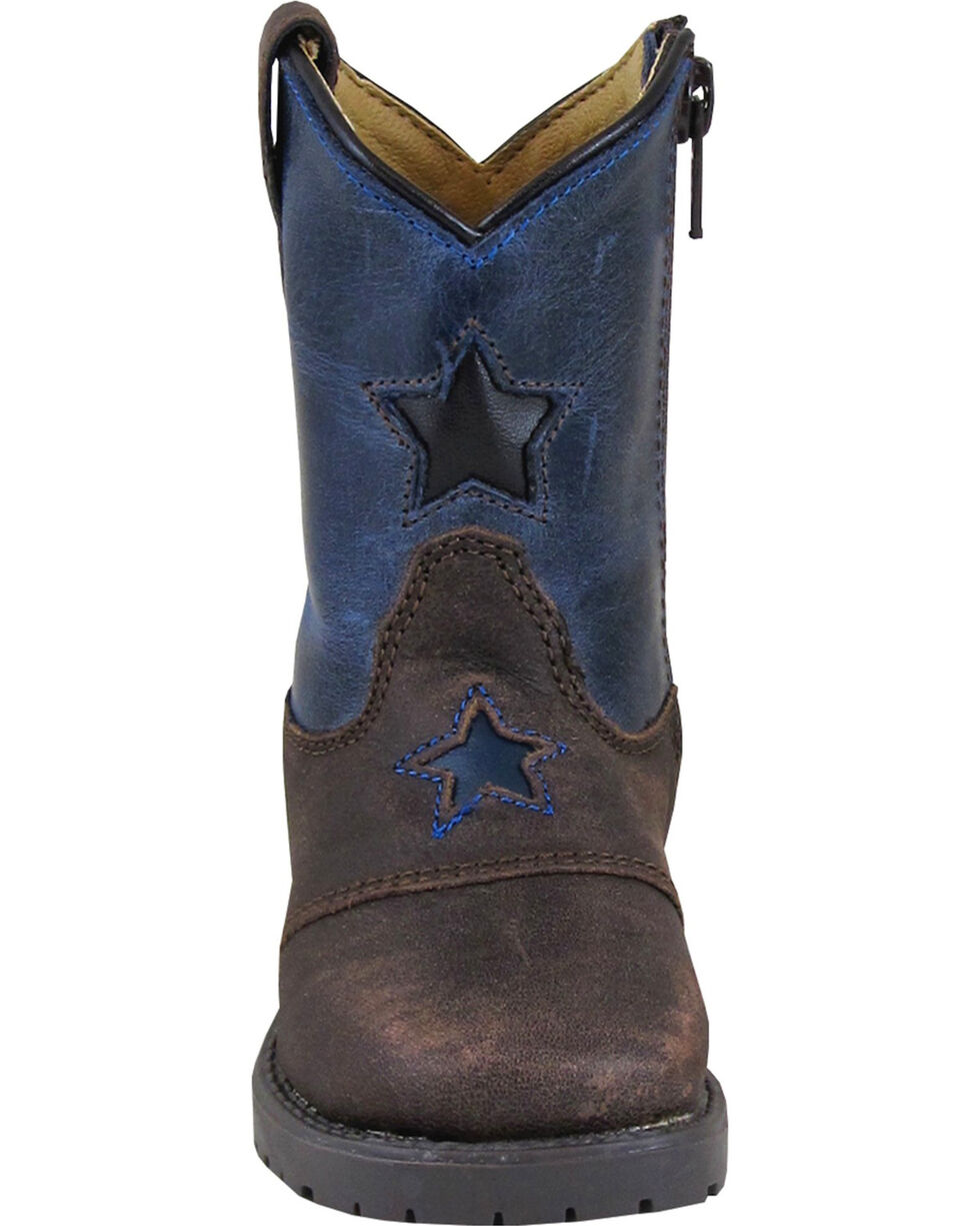 Square Toe Smoky Mountain Toddler Boys/' Autry Star Inlay Cowboy Boot 3713T