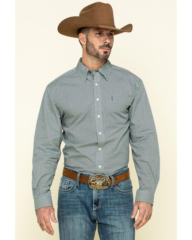 Cinch Men's Modern Fit Multi Geo Print Button Long Sleeve Western Shirt , Multi, hi-res