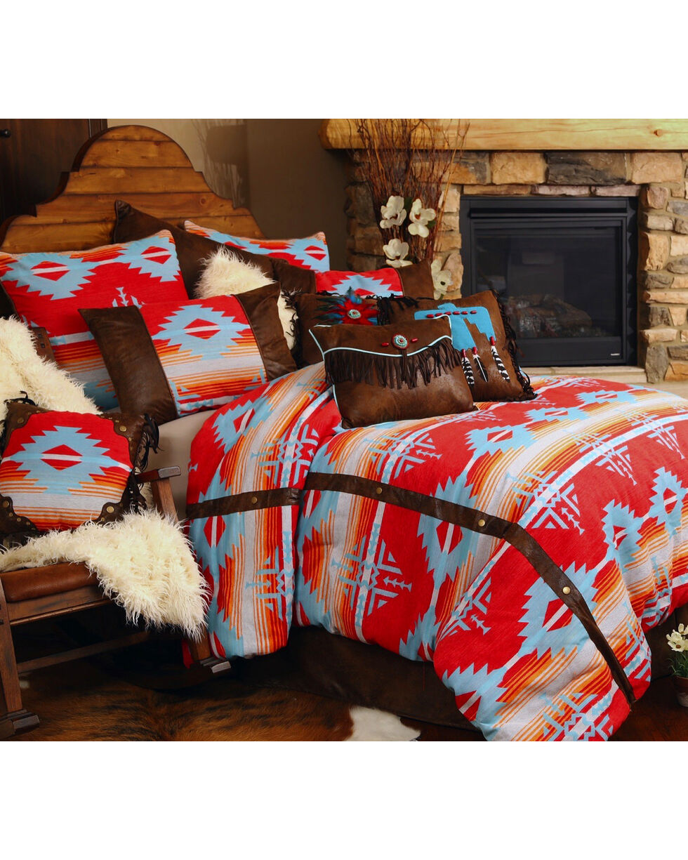 Carstens Red Branch King Bedding - 5 Piece Set, Red, hi-res