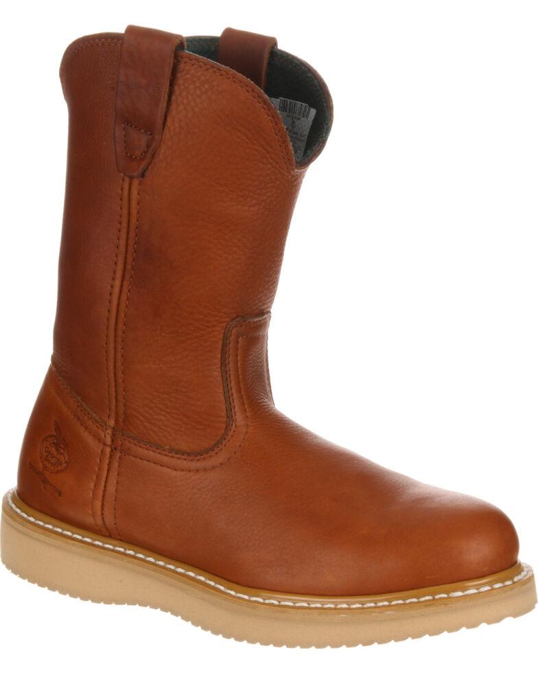 9a7768bb636 Georgia Men's Farm & Ranch Wellington Work Boots