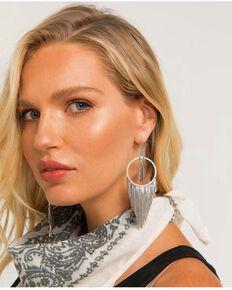 Idyllwind Women's Feelin' Fringe Hoop Earrings, Silver, hi-res