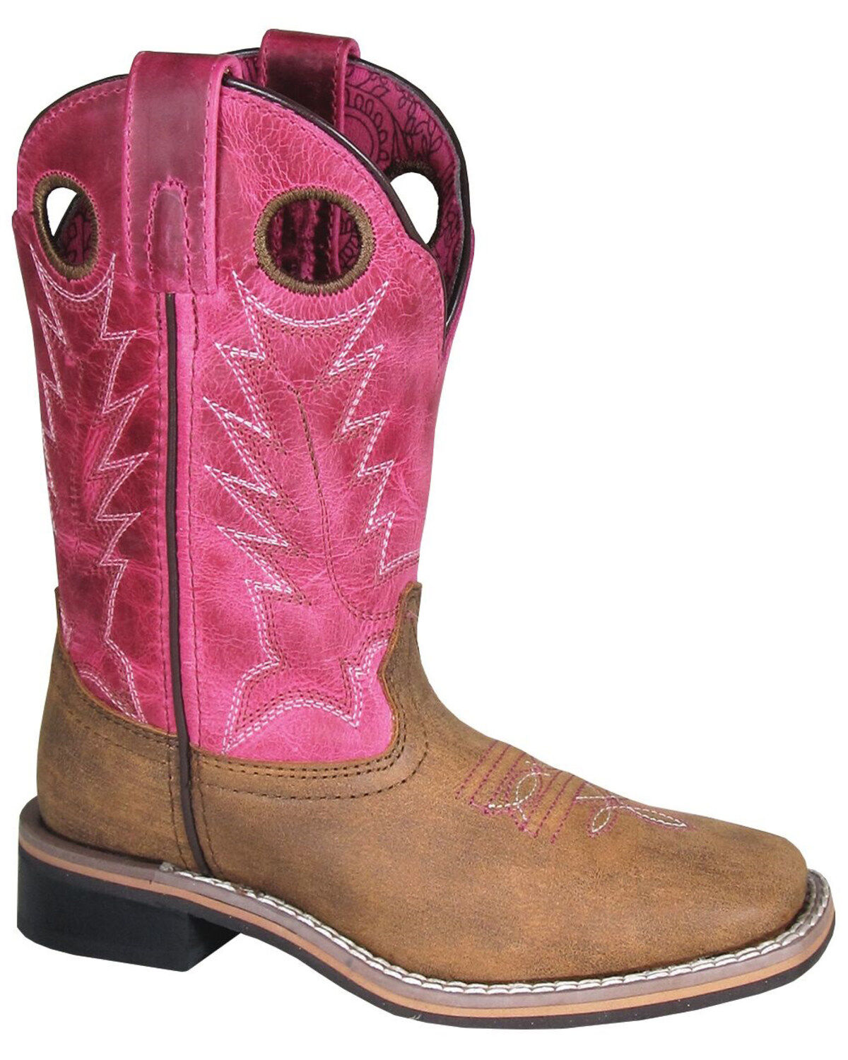 8159 Old West Girls Overlay Western Boot Pointed Toe
