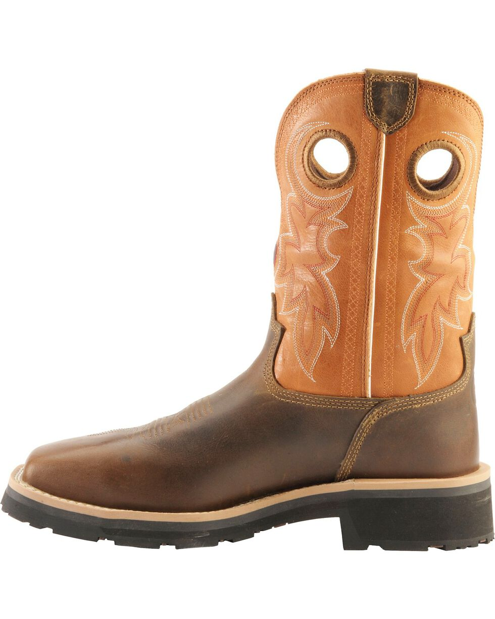 Tony Lama 3R Comanche Work Boots - Composite Toe, Brown, hi-res