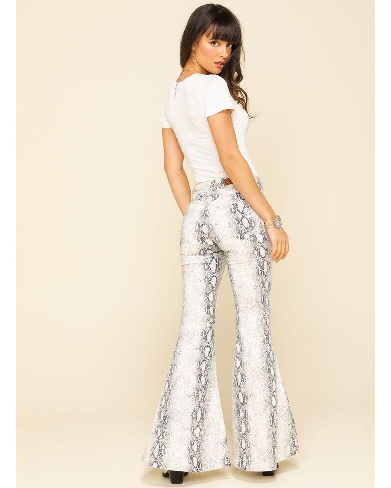 Shyanne Women's Python Print Flare Pants, Black/white, hi-res