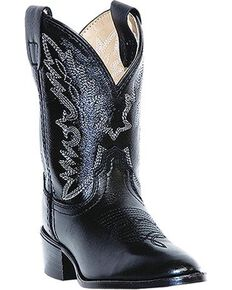 Dan Post Children's Shane Western Boots, Black, hi-res