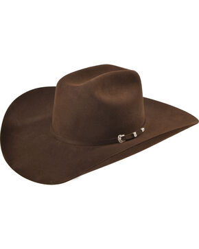 Serratelli Men's Chocolate 6X Fur Felt Beaumont Cowboy Hat, Chocolate, hi-res