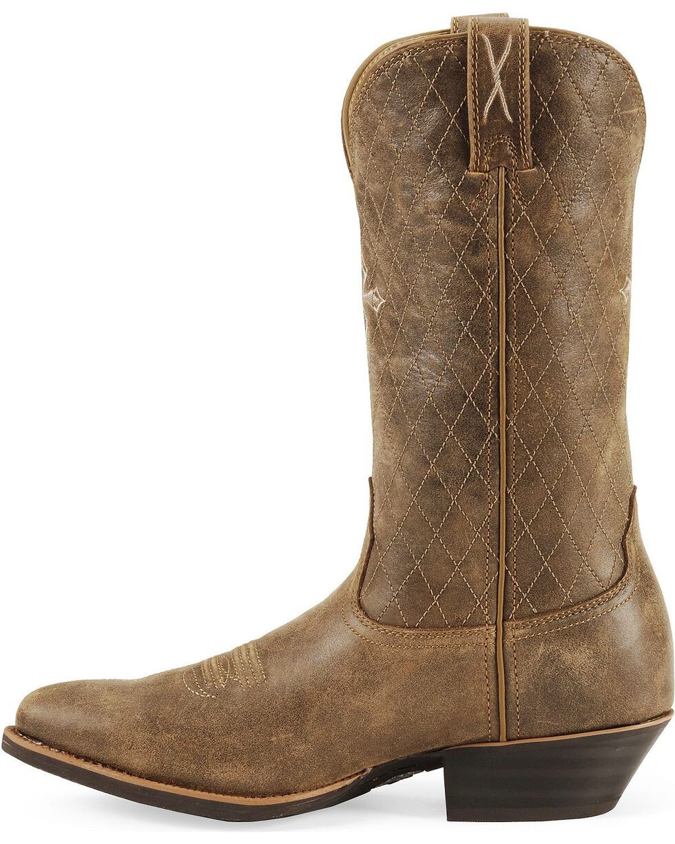 """Twisted X Men's Silver Buckle 11"""" Western Boots, Distressed, hi-res"""