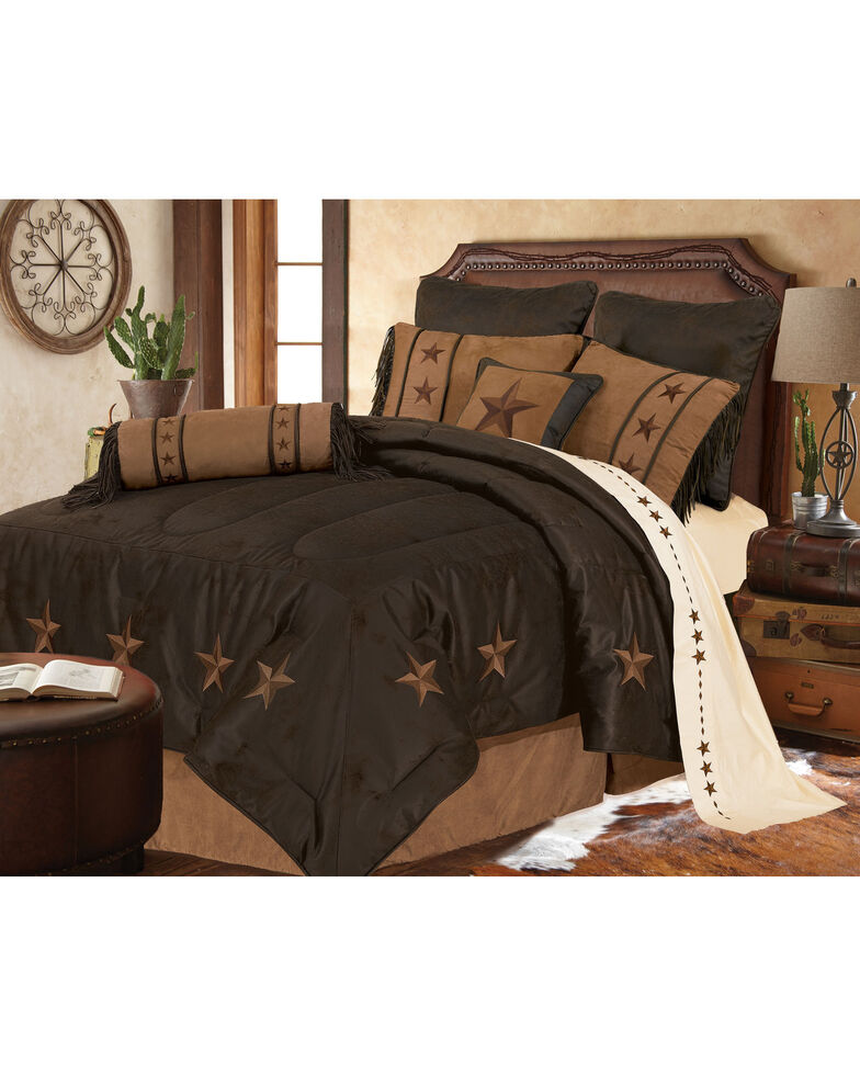 HiEnd Accents Laredo Comforter Set, Chocolate, hi-res
