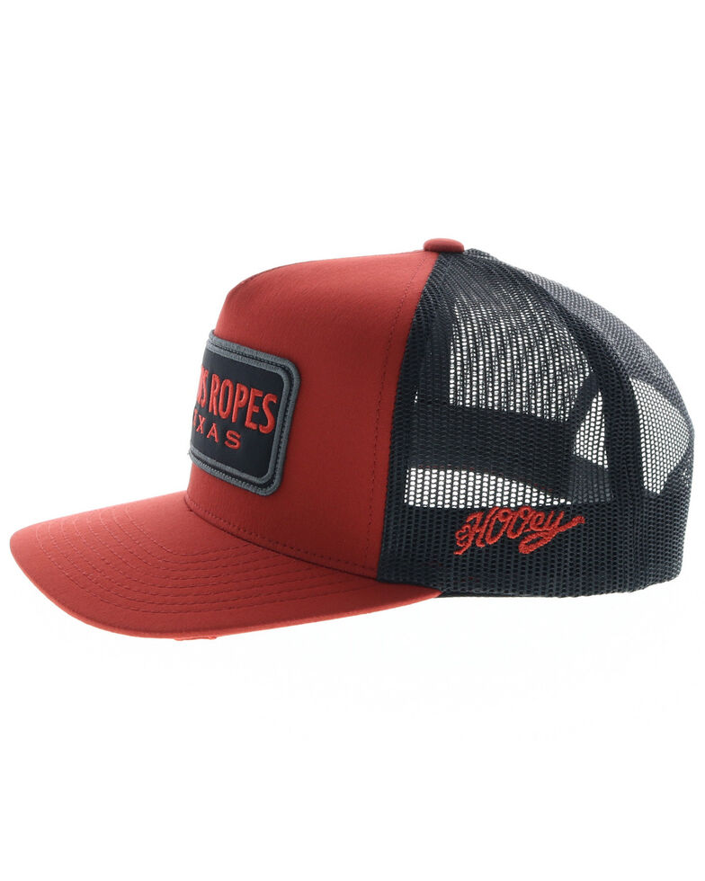 HOOey Men's Red & Blue Cactus Ropes Patch Cap, Red, hi-res