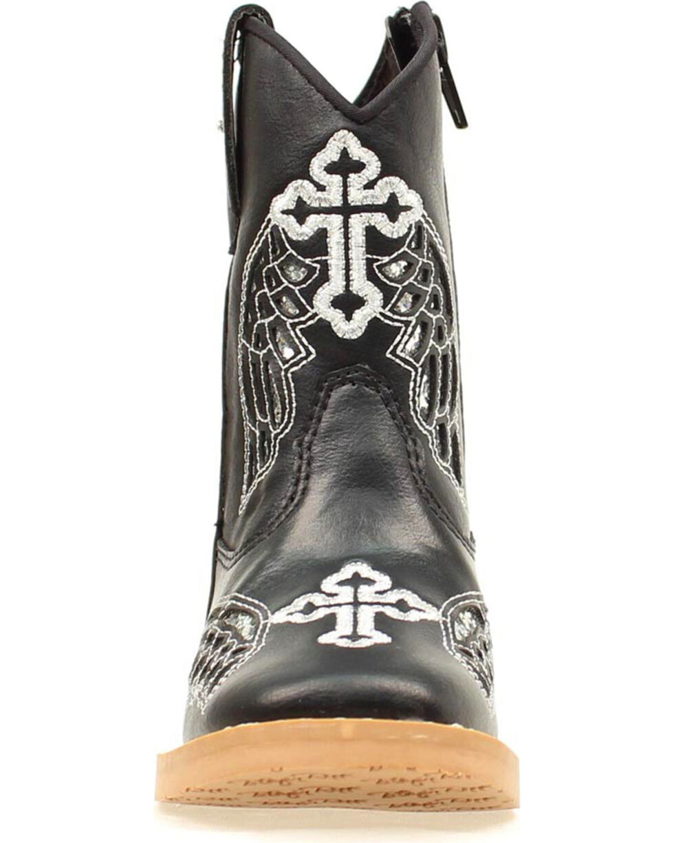 Blazzin Rocks Girls' Gracie Wing Cross Zip Boot, Black, hi-res
