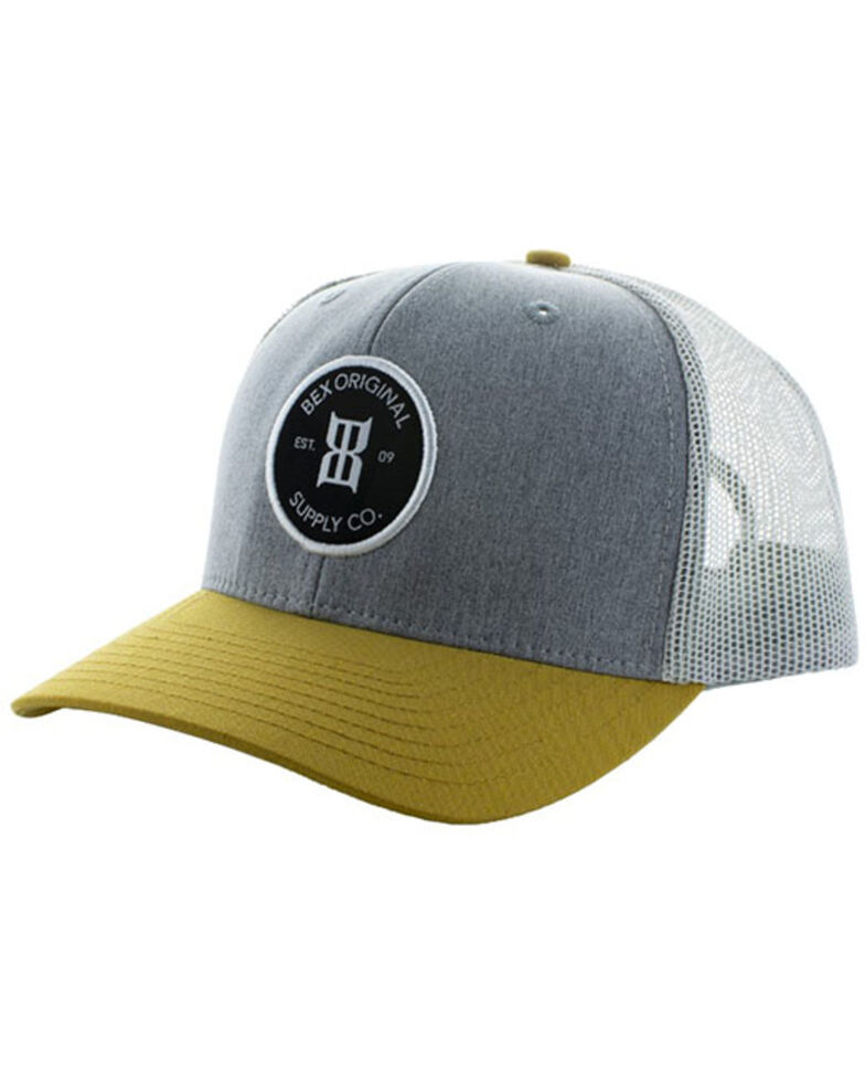 Bex Men's Grey Carver Mesh-Back Ball Cap , Grey, hi-res