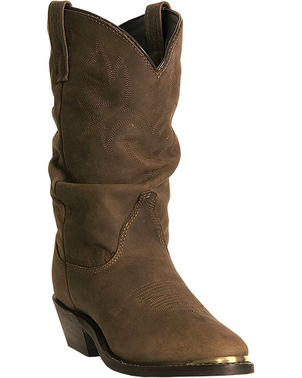 Dingo Women's Marlee Slouch Western Boots, Brown, hi-res