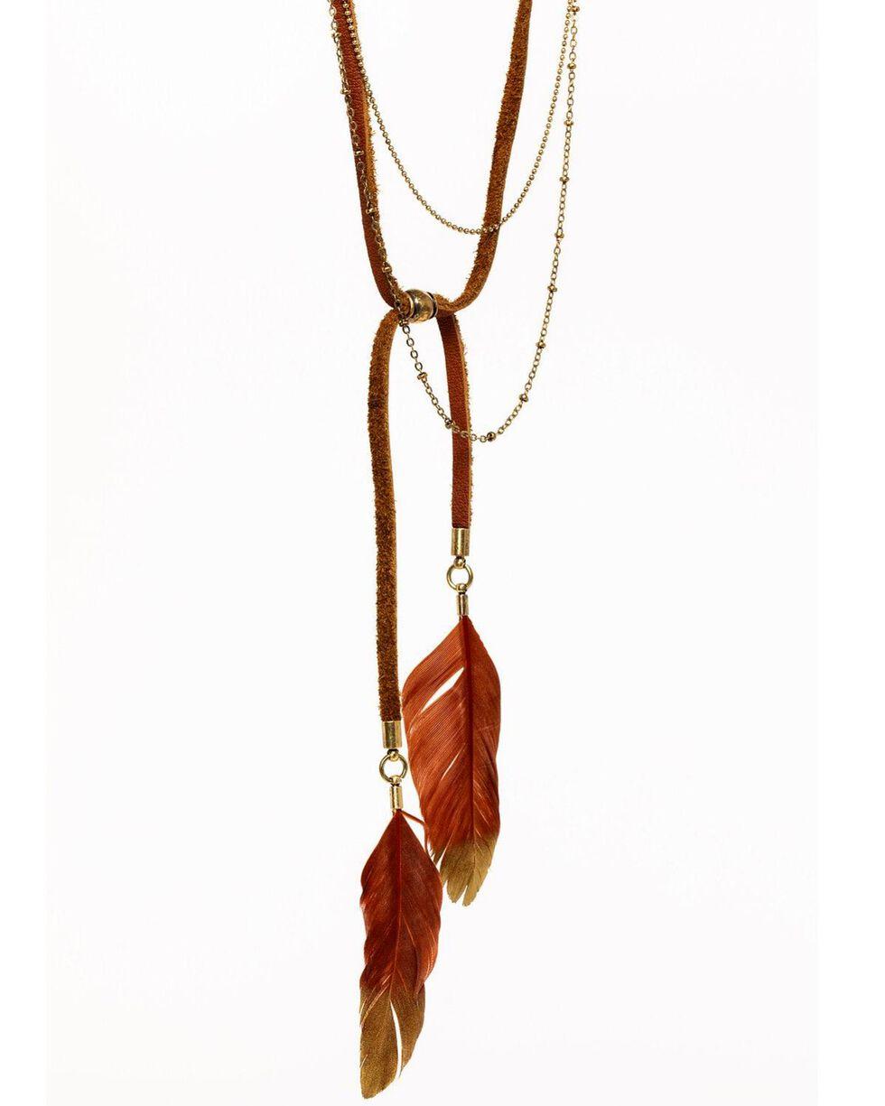 Idyllwind Women's Dreamcatcher Tassel Necklace, Gold, hi-res
