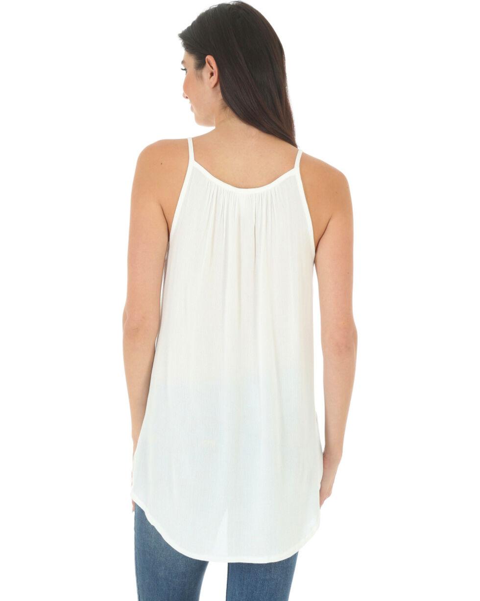 Wrangler Women's Braided Front Sleeveless Top, Ivory, hi-res