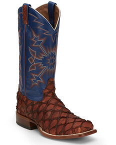 Tony Lama Men's Ballast Pecan Western Boots - Wide Square Toe, Brown, hi-res