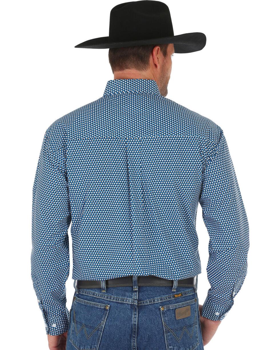 Wrangler George Strait Men's Teal Geo Print Shirt - Big & Tall, Teal, hi-res