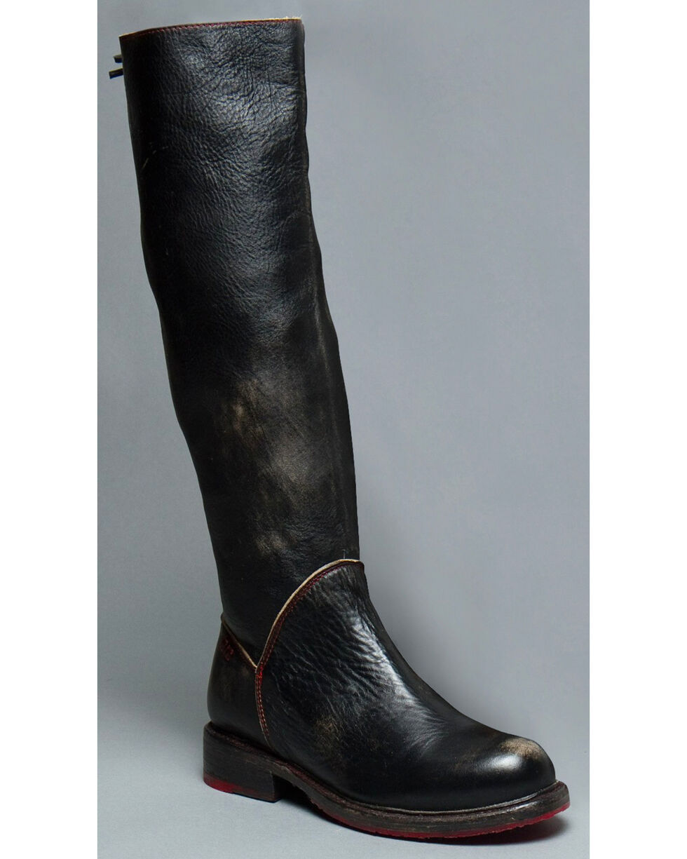 Bed Stu Women S Black Manchester Tall Boots Round Toe Boot Barn