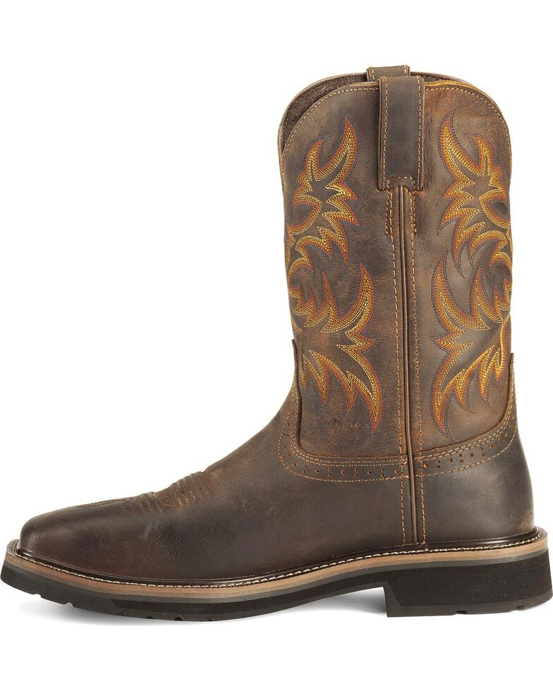 Justin Men S Stampede Tan Waterproof Work Boots Boot Barn