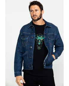 Wrangler Retro Men's Unlined Worn Indigo Denim Jacket , Indigo, hi-res