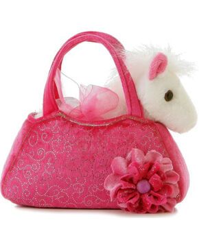 Aurora Plush Unicorn Pet Carrier, Pink, hi-res