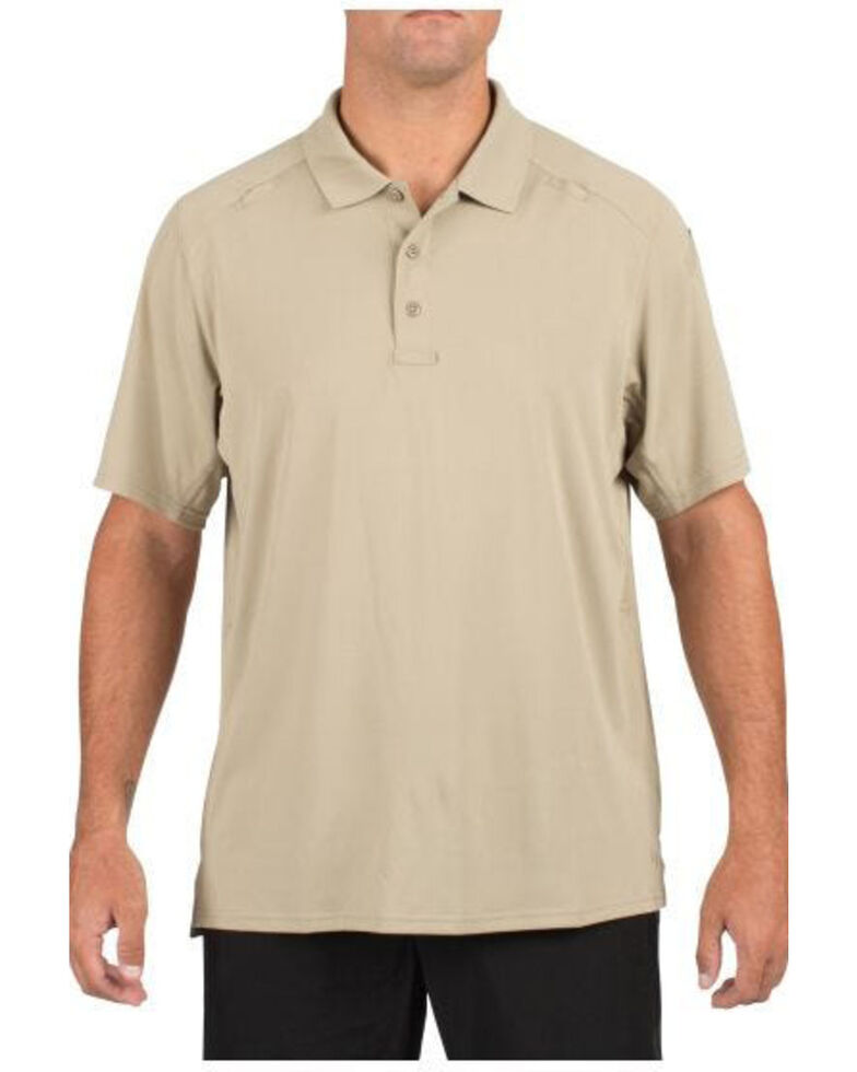 5.11 Tactical Helios Short Sleeve Polo Shirt - 3XL, Tan, hi-res