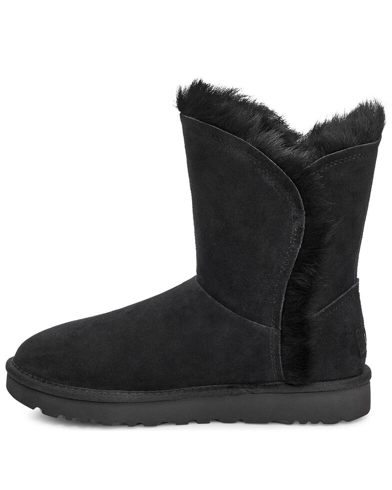 UGG Women's Classic Short Fluff Boots, Black, hi-res